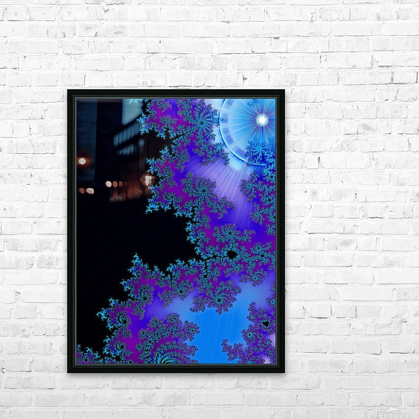 Moonlight  In The Forest Flowers 2  HD Sublimation Metal print with Decorating Float Frame (BOX)