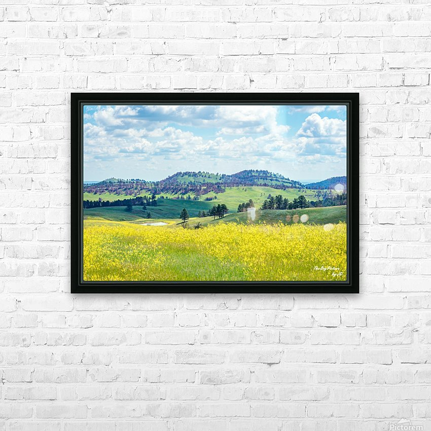 Custer State Park Yellow HD Sublimation Metal print with Decorating Float Frame (BOX)