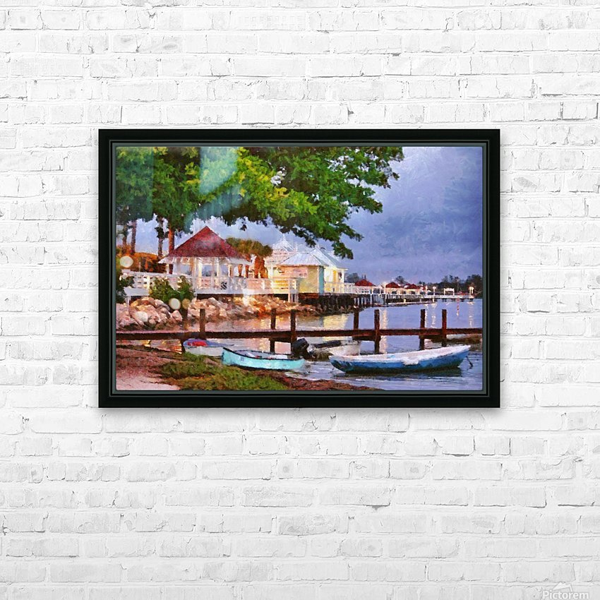 The Pier On Bridge Street HD Sublimation Metal print with Decorating Float Frame (BOX)