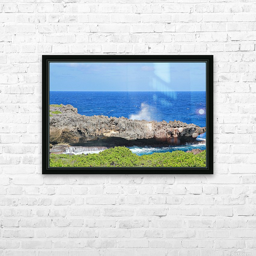 Rocky Ledge HD Sublimation Metal print with Decorating Float Frame (BOX)