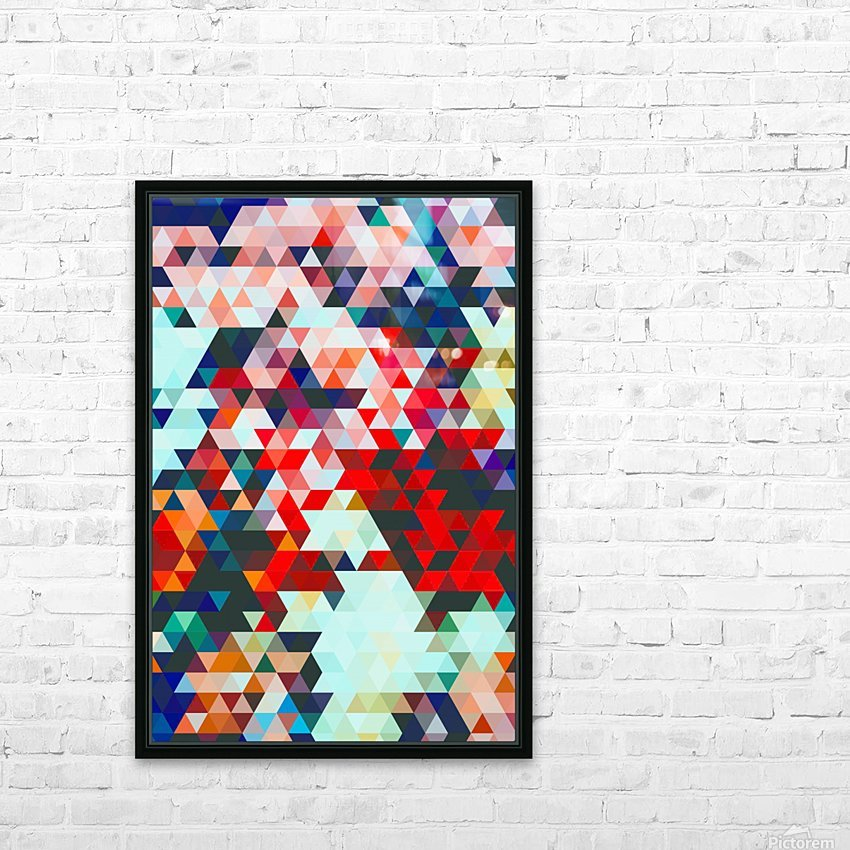 Geometrico HD Sublimation Metal print with Decorating Float Frame (BOX)