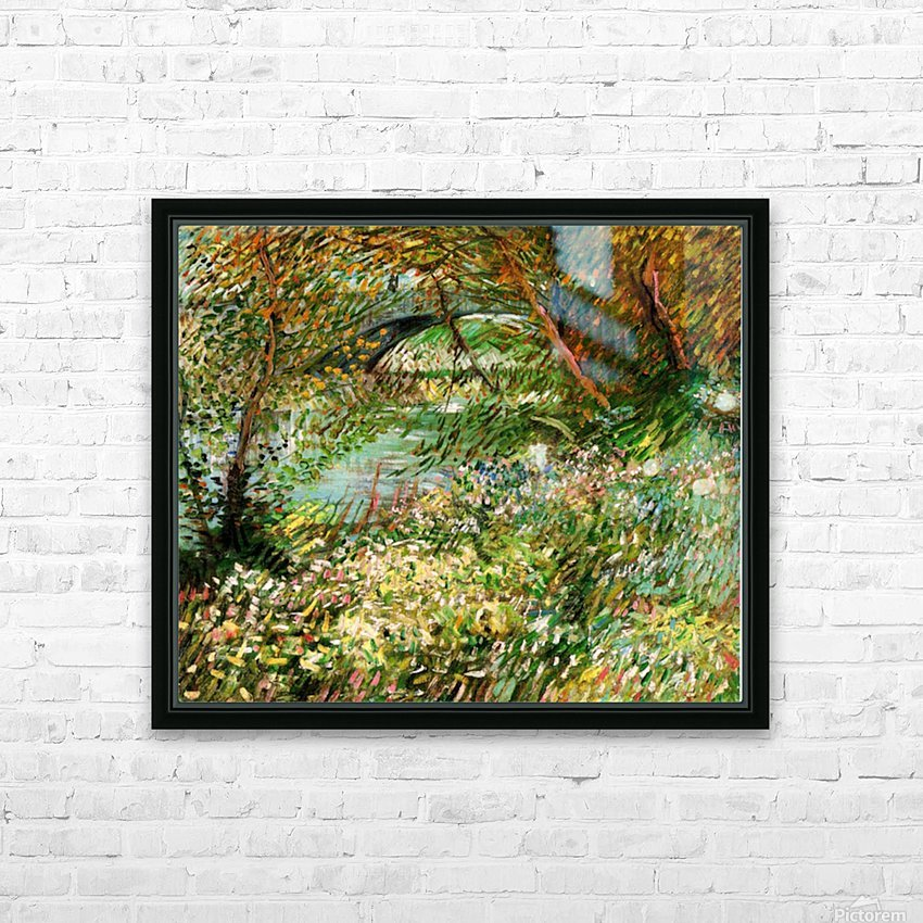 Banks of the Seine with Pont de Clichy in the Spring by Van Gogh HD Sublimation Metal print with Decorating Float Frame (BOX)