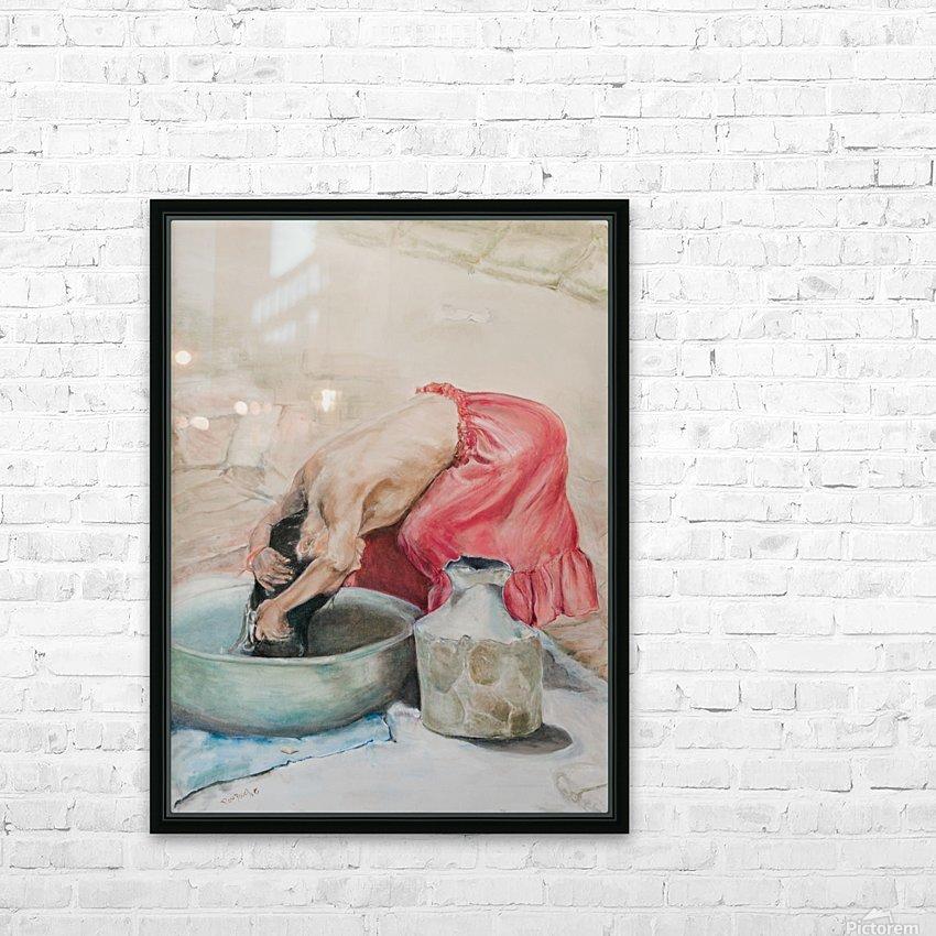 Lady_Hair_High_Res HD sublimation métal imprimé avec décoration flotteur cadre (boîte)