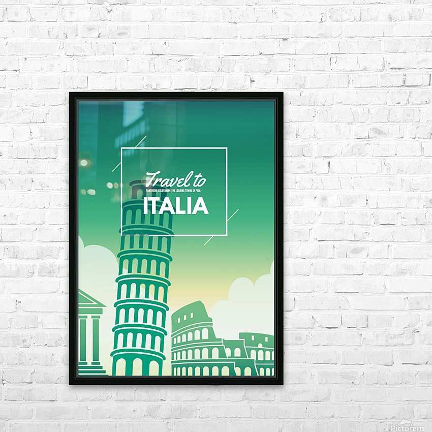 Travel to Italy HD Sublimation Metal print with Decorating Float Frame (BOX)