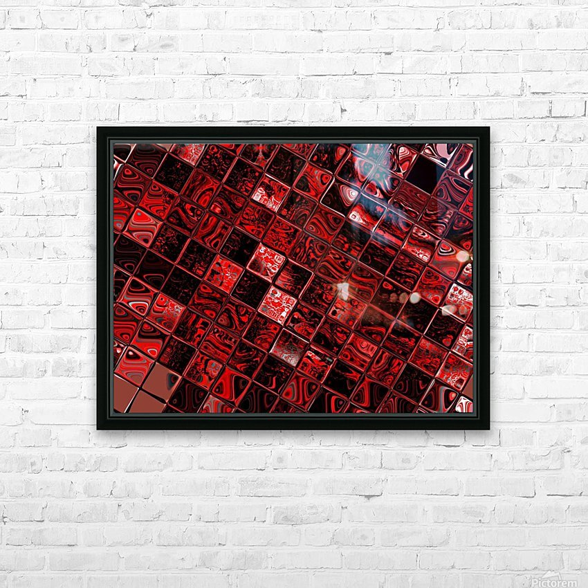 Red Glass Tiles 3 HD Sublimation Metal print with Decorating Float Frame (BOX)