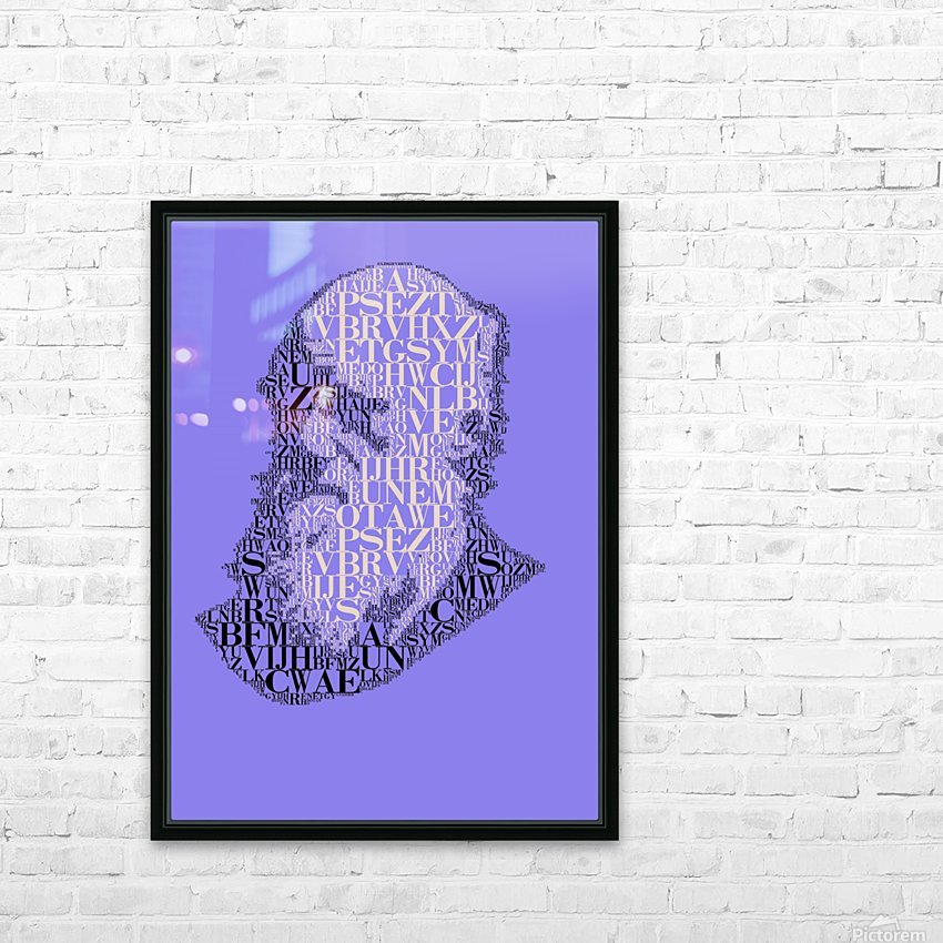 Charles Darwin HD Sublimation Metal print with Decorating Float Frame (BOX)