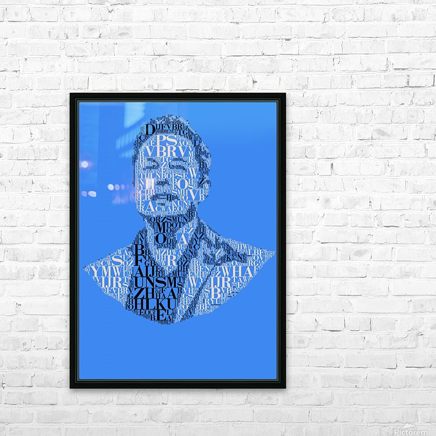 Elon Musk HD Sublimation Metal print with Decorating Float Frame (BOX)