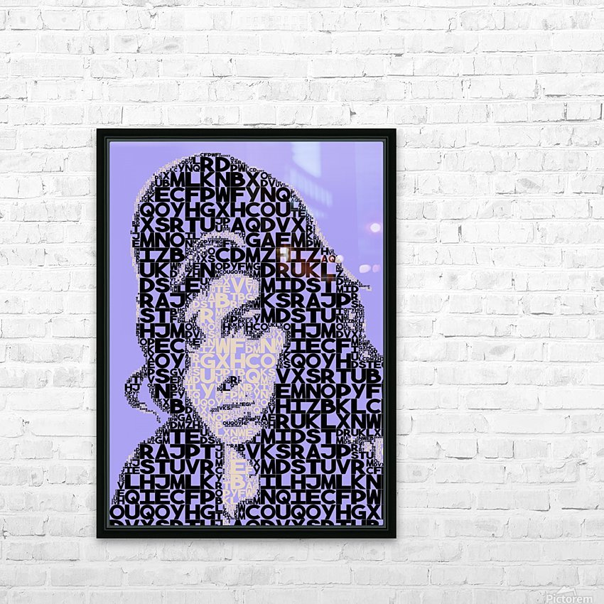 Amy Winehouse2 HD Sublimation Metal print with Decorating Float Frame (BOX)