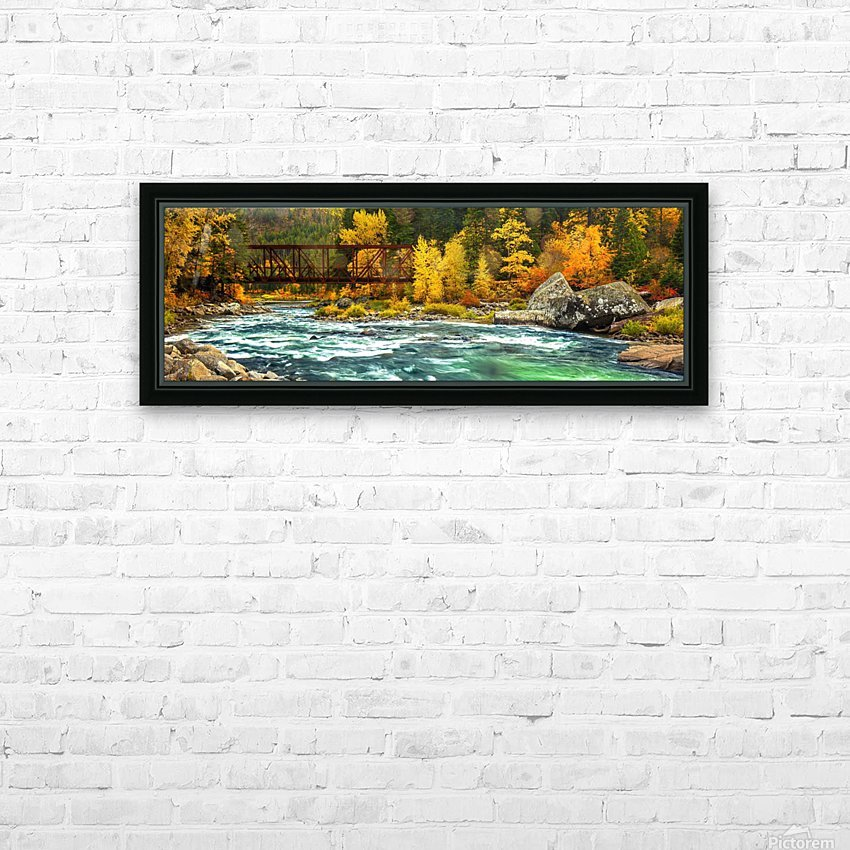 Emerald Flow Pano HD Sublimation Metal print with Decorating Float Frame (BOX)