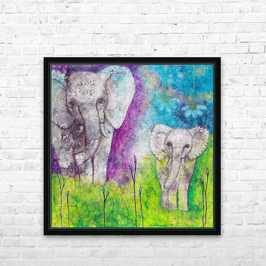 Josephine & Lily HD Sublimation Metal print with Decorating Float Frame (BOX)