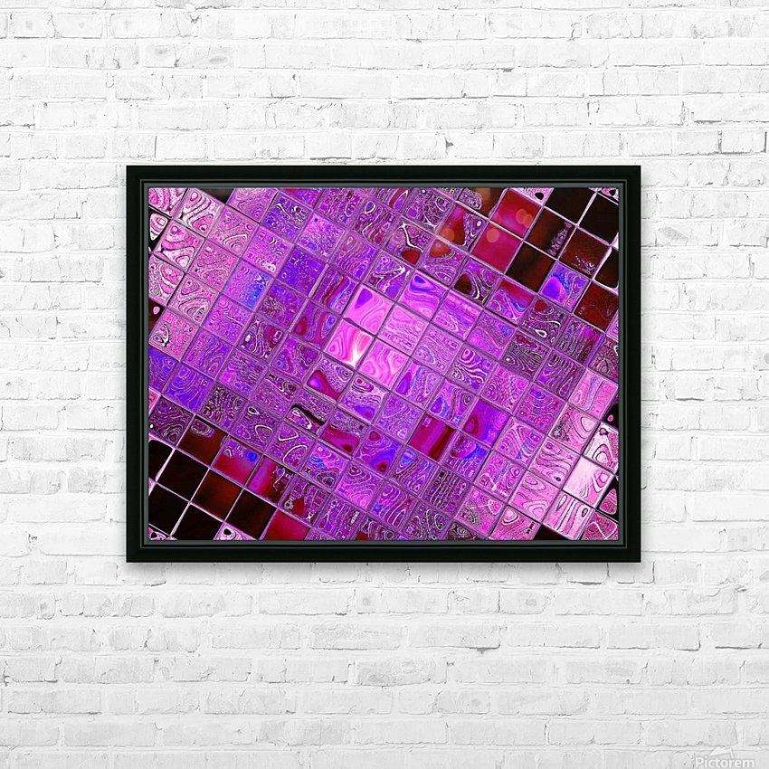 Glass Crystal 3 HD Sublimation Metal print with Decorating Float Frame (BOX)