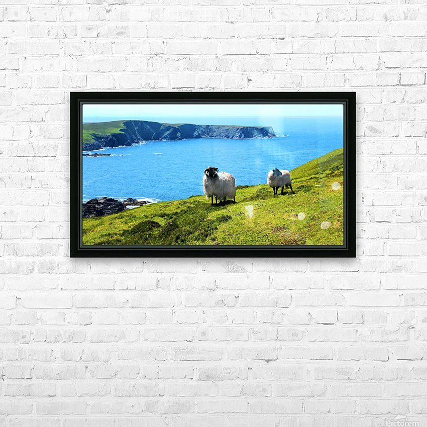 Home with a View HD Sublimation Metal print with Decorating Float Frame (BOX)