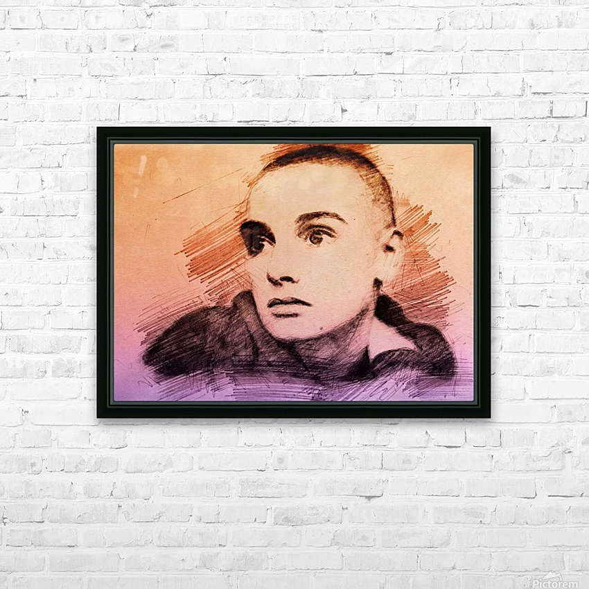 Sinéad OConnor HD Sublimation Metal print with Decorating Float Frame (BOX)