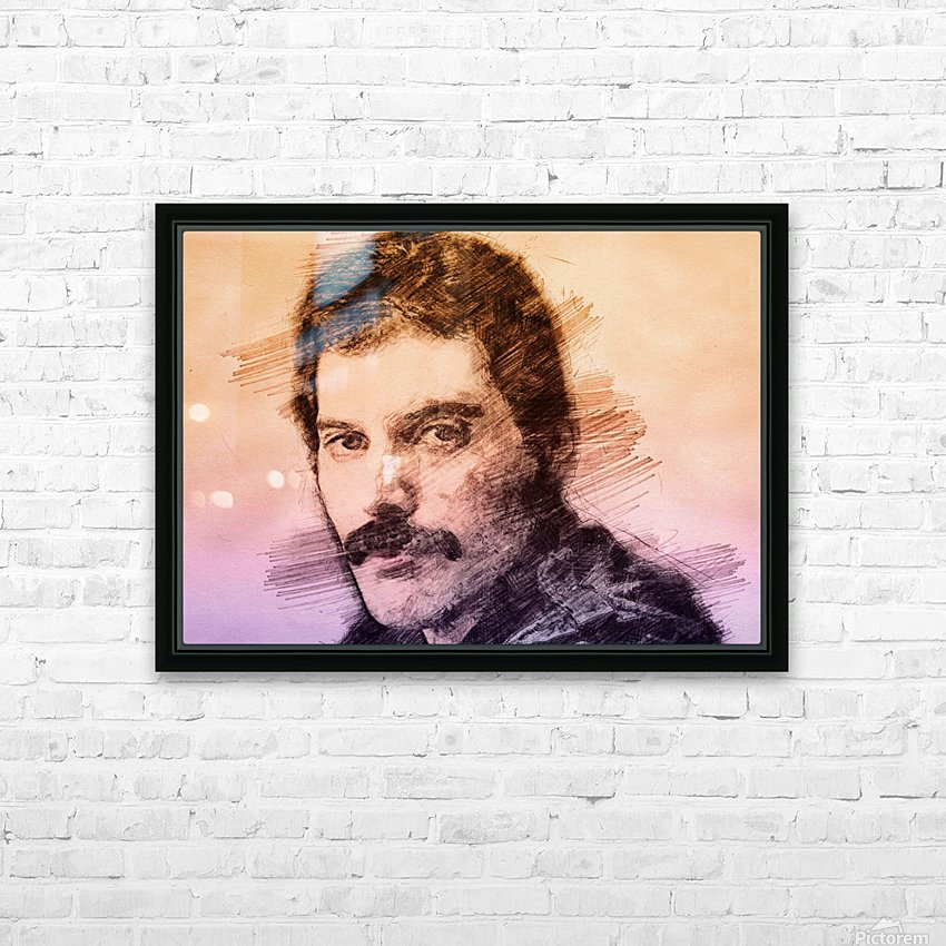 Fredie Mercury HD Sublimation Metal print with Decorating Float Frame (BOX)