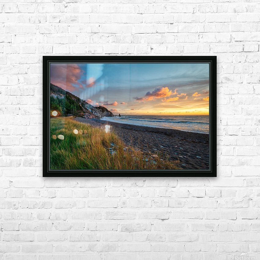 Sunset Relief HD Sublimation Metal print with Decorating Float Frame (BOX)