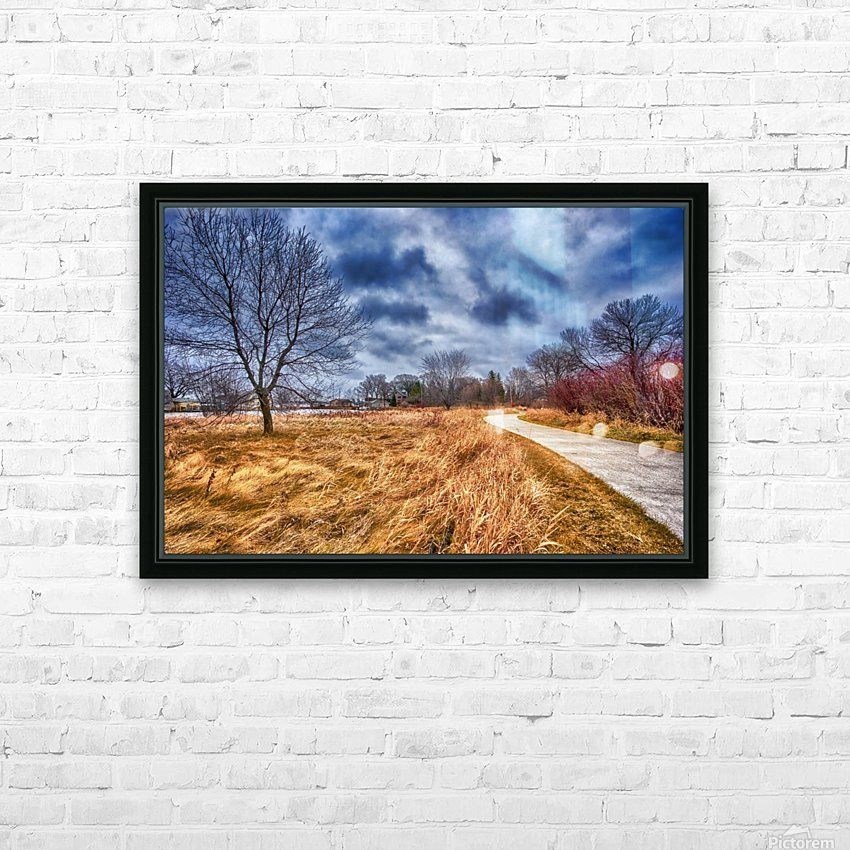 Templar Path HD Sublimation Metal print with Decorating Float Frame (BOX)