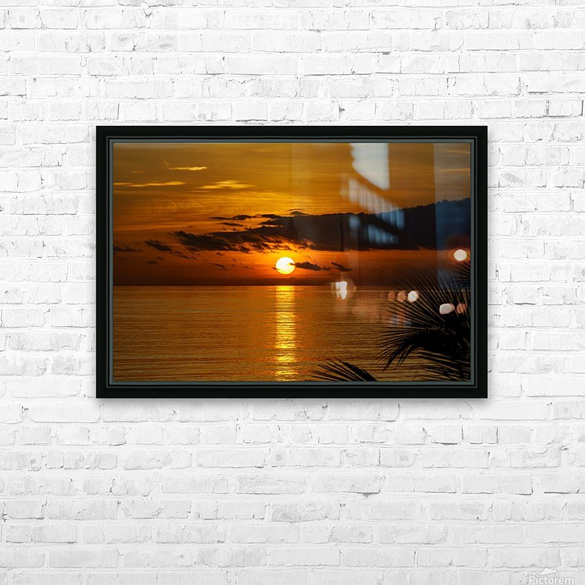 Sunrise at Cayman Kai HD Sublimation Metal print with Decorating Float Frame (BOX)