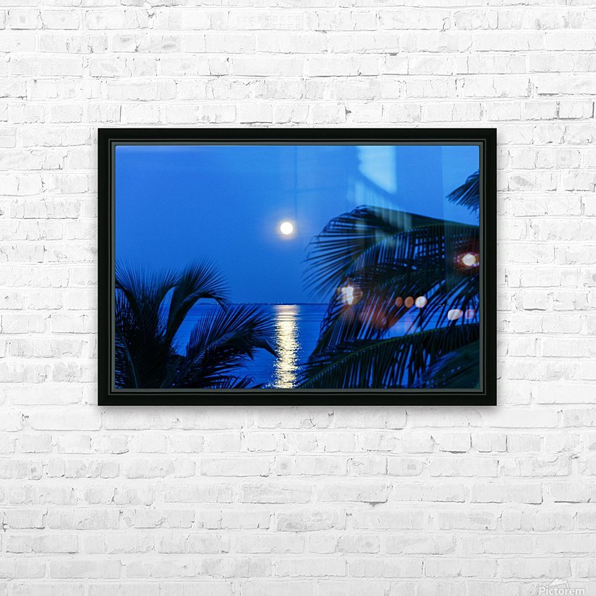 Moon rise at Cayman Kai HD Sublimation Metal print with Decorating Float Frame (BOX)