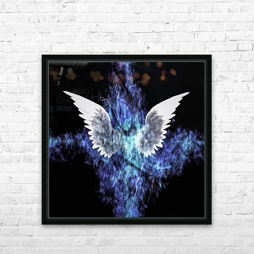 Wings Painting HD Sublimation Metal print with Decorating Float Frame (BOX)