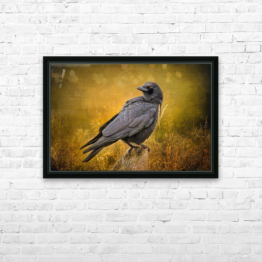 Black Crow HD Sublimation Metal print with Decorating Float Frame (BOX)