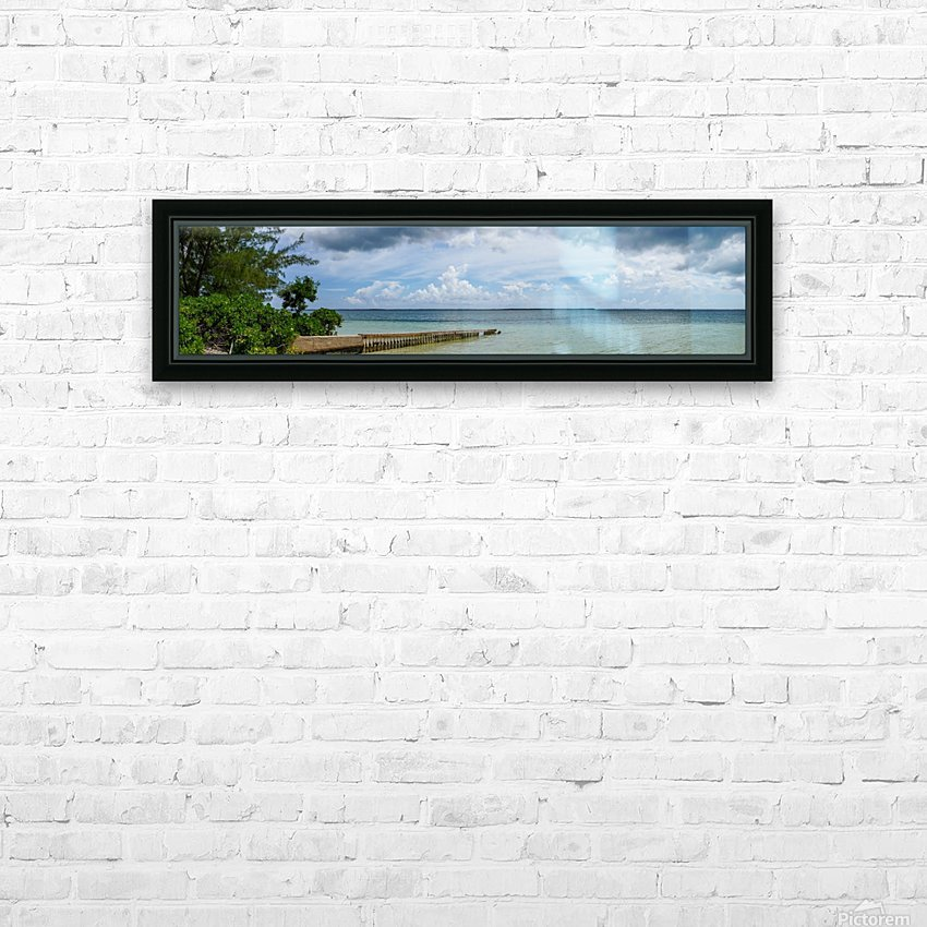 View of Georgetown from Starfish Point in Grand Cayman 2 HD Sublimation Metal print with Decorating Float Frame (BOX)