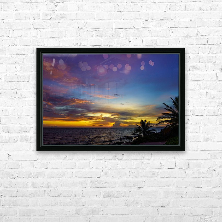 Colorful Caribbean Sky at Grand Cayman HD Sublimation Metal print with Decorating Float Frame (BOX)