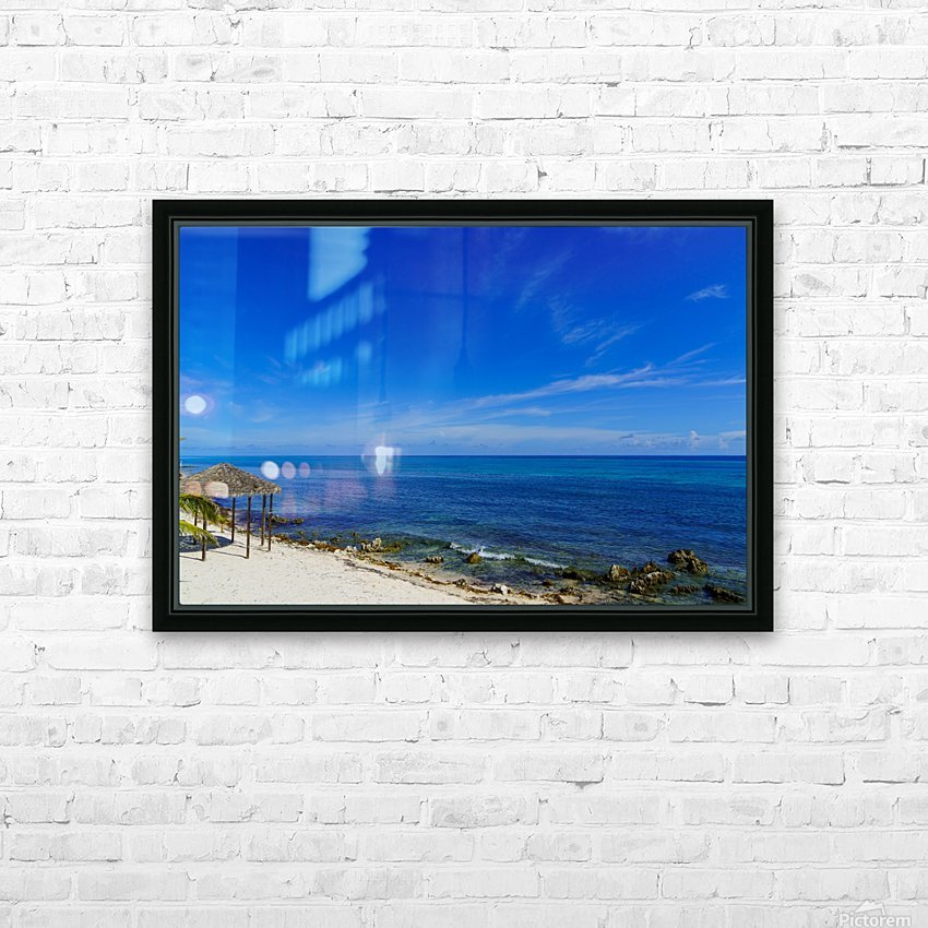 Caribbean Blues at Grand Cayman HD Sublimation Metal print with Decorating Float Frame (BOX)