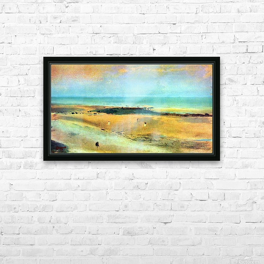 Beach at low tide 1 by Degas HD Sublimation Metal print with Decorating Float Frame (BOX)