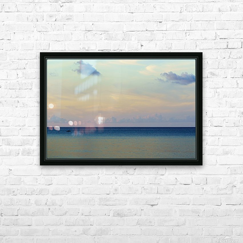 Lone fisherman HD Sublimation Metal print with Decorating Float Frame (BOX)