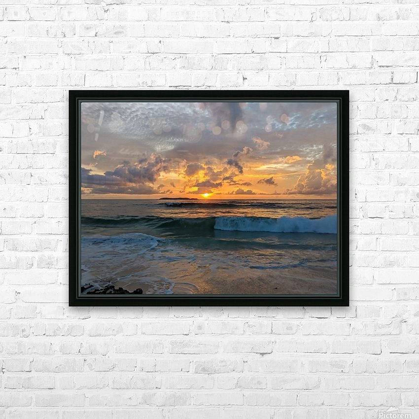 Eleuthera New Day HD Sublimation Metal print with Decorating Float Frame (BOX)