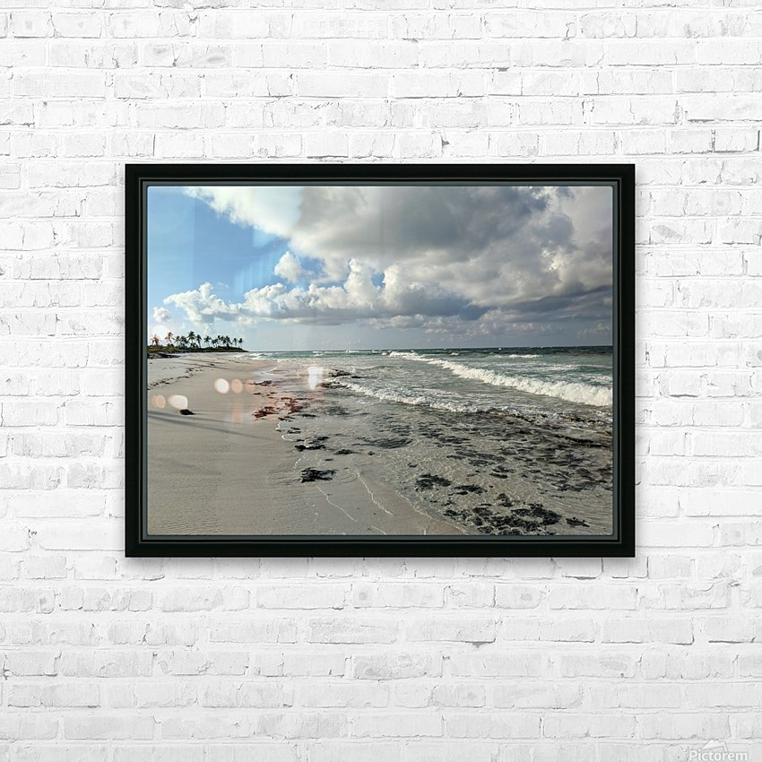 Eleuthera Deserted Beach HD Sublimation Metal print with Decorating Float Frame (BOX)