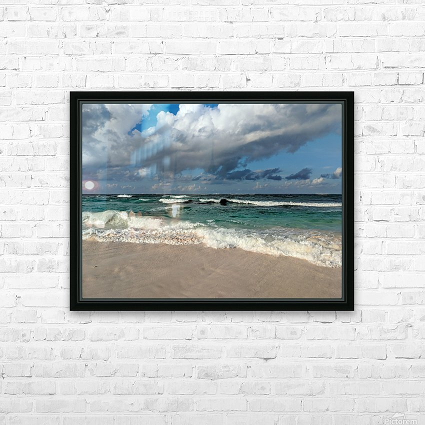 Eleuthera Endless Waves HD Sublimation Metal print with Decorating Float Frame (BOX)