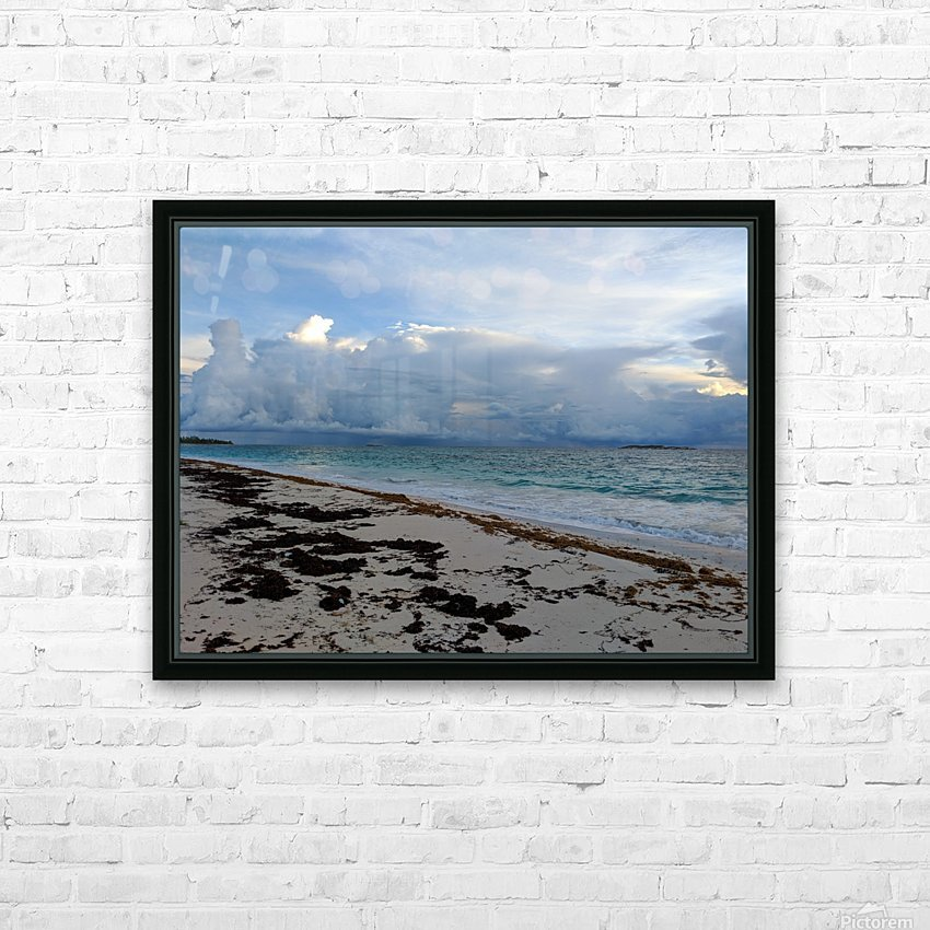 Eleuthera Stormy Horizon HD Sublimation Metal print with Decorating Float Frame (BOX)