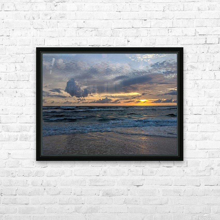 Eleuthera Waves HD Sublimation Metal print with Decorating Float Frame (BOX)