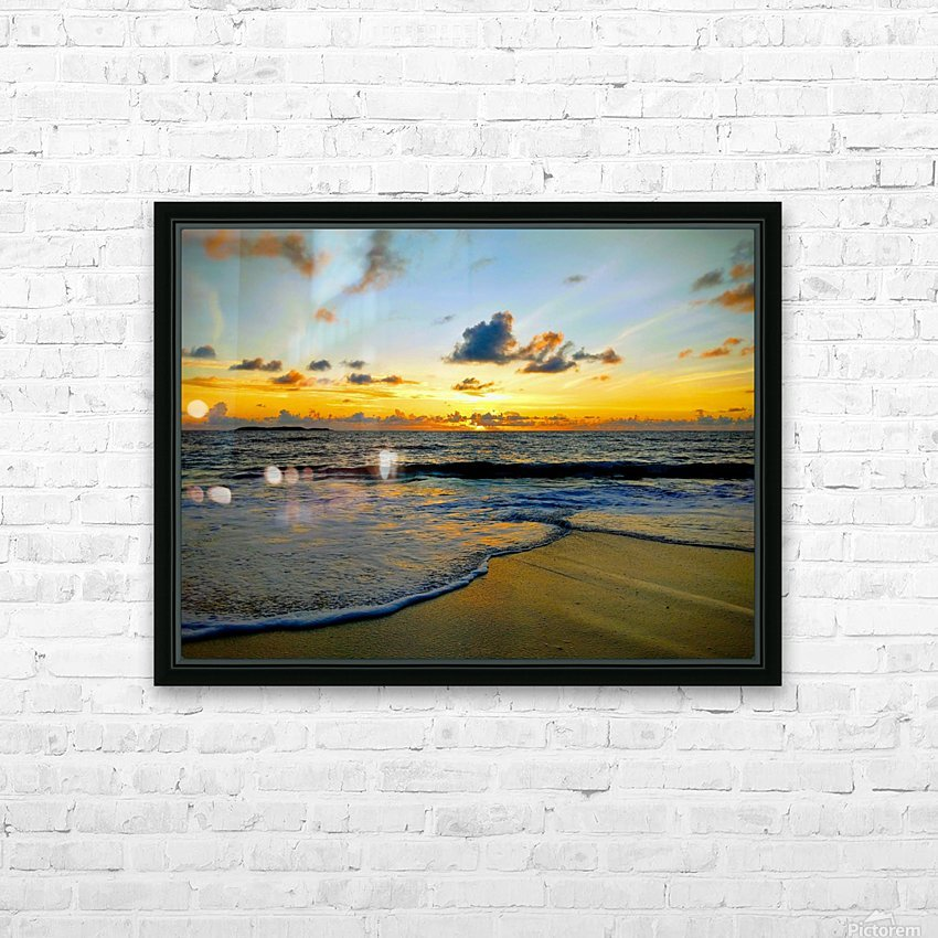 Eleuthera suds and sand HD Sublimation Metal print with Decorating Float Frame (BOX)
