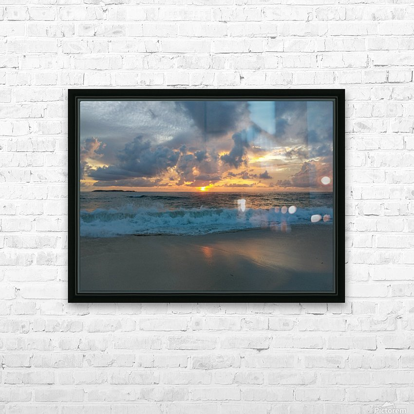 Eleuthera Morning on the beach HD Sublimation Metal print with Decorating Float Frame (BOX)