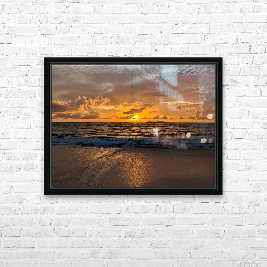 Eleuthera Golden Morning HD Sublimation Metal print with Decorating Float Frame (BOX)