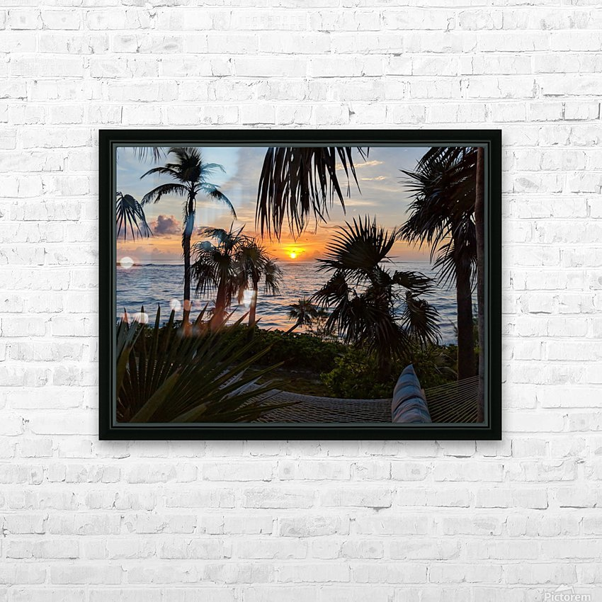 Eleuthera Sunrise on the Hammock HD Sublimation Metal print with Decorating Float Frame (BOX)