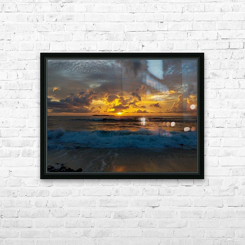 Eleuthera Sunrise splashdown HD Sublimation Metal print with Decorating Float Frame (BOX)