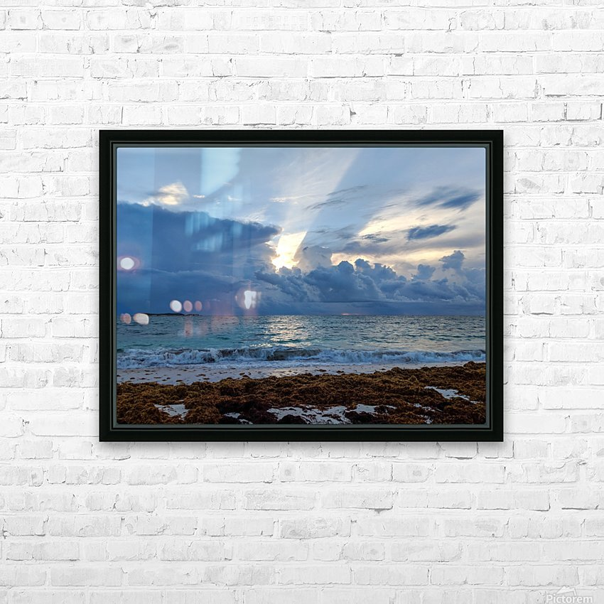 Eleuthera Sun ray HD Sublimation Metal print with Decorating Float Frame (BOX)
