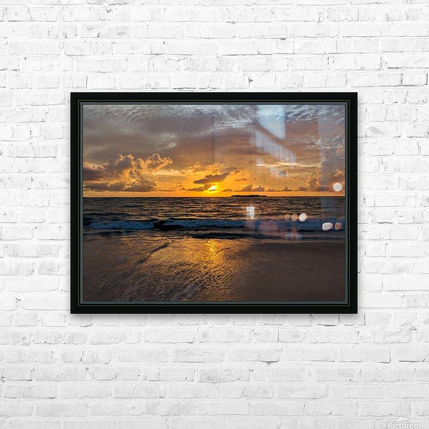 Eleuthera Sunrise HD Sublimation Metal print with Decorating Float Frame (BOX)