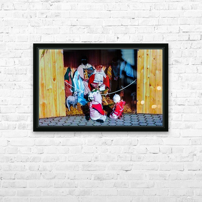 Hungarian Nativity Scene HD Sublimation Metal print with Decorating Float Frame (BOX)