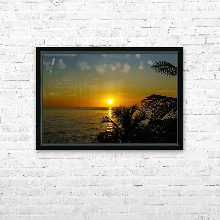 Caribbean Sunrise HD Sublimation Metal print with Decorating Float Frame (BOX)