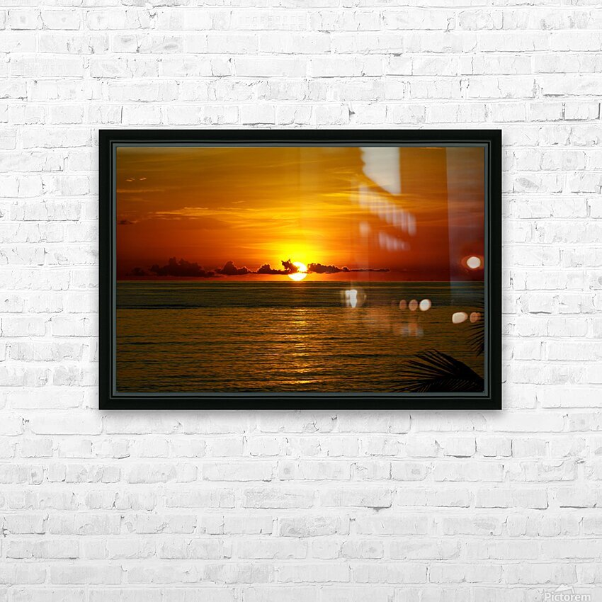 Sun rising on the Caribbean HD Sublimation Metal print with Decorating Float Frame (BOX)