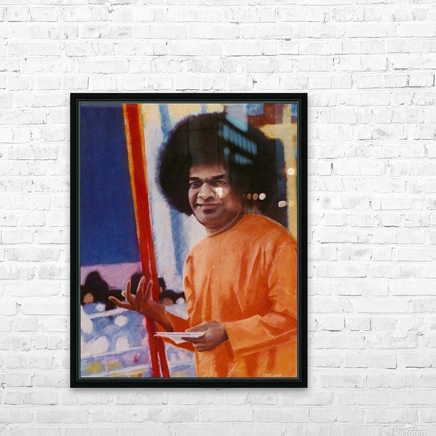 Sathya Sai Baba HD Sublimation Metal print with Decorating Float Frame (BOX)