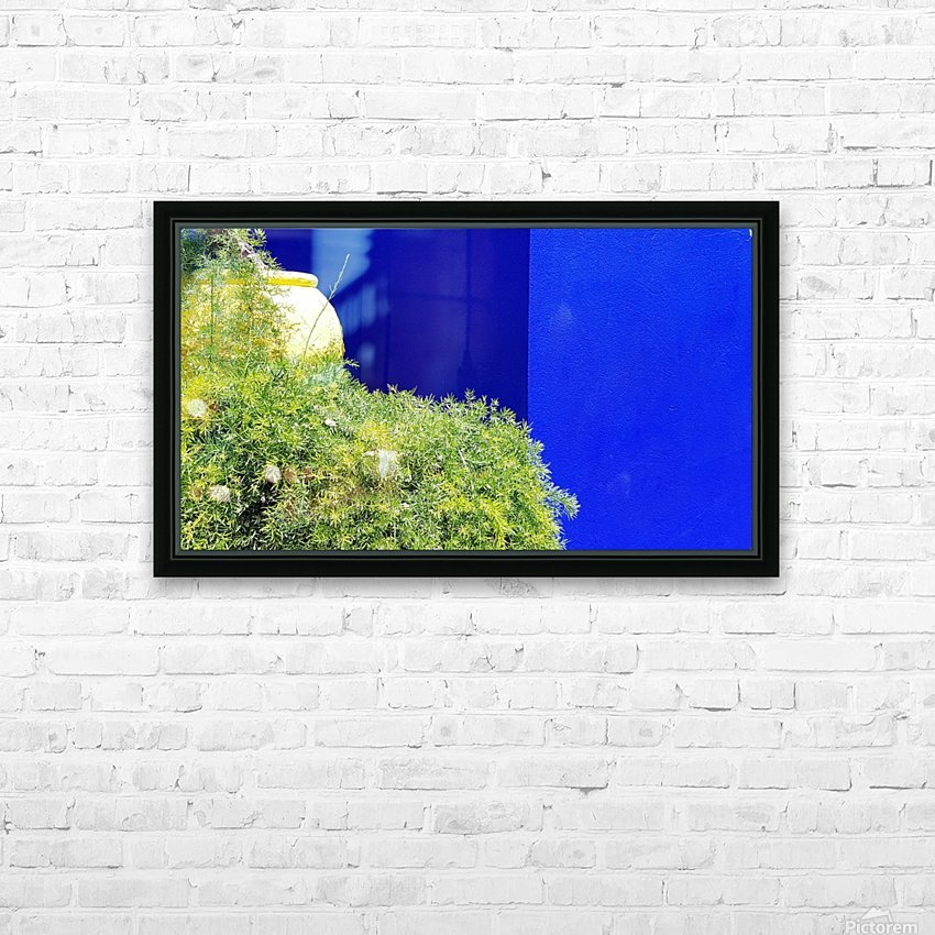Marrakech on Blue Majorelle HD Sublimation Metal print with Decorating Float Frame (BOX)