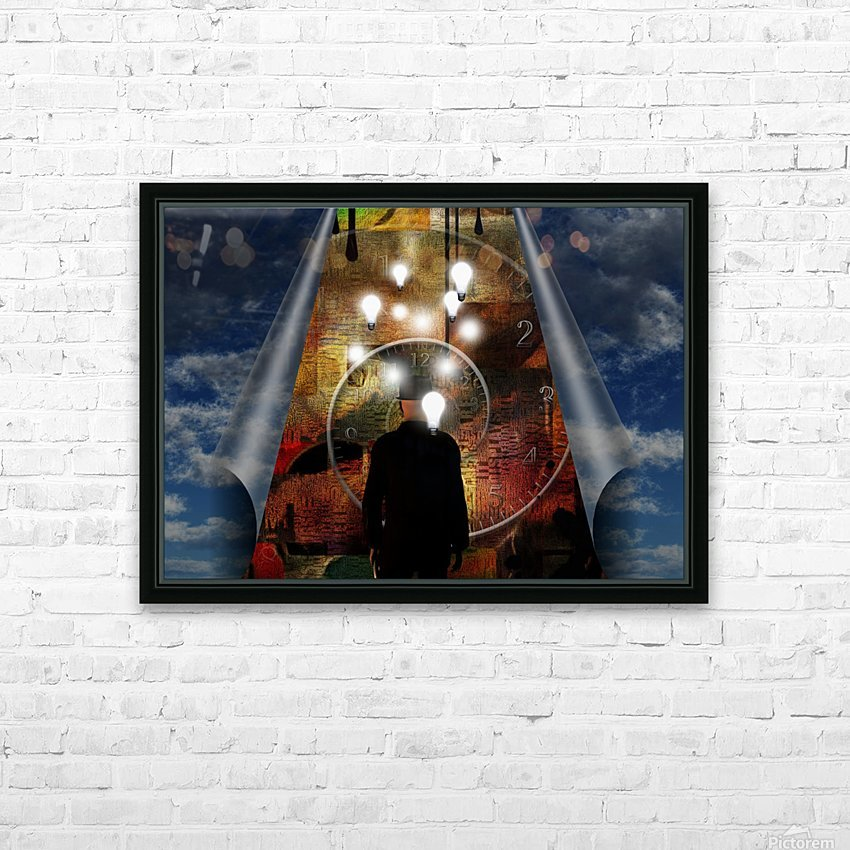 Time and Ideas HD Sublimation Metal print with Decorating Float Frame (BOX)