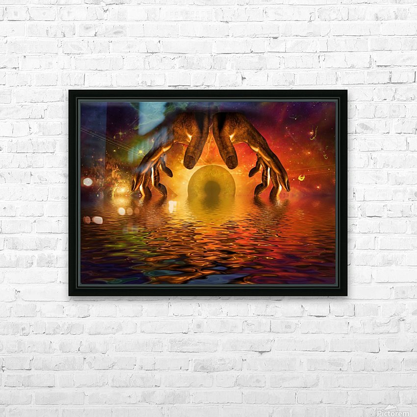Mystery of God HD Sublimation Metal print with Decorating Float Frame (BOX)