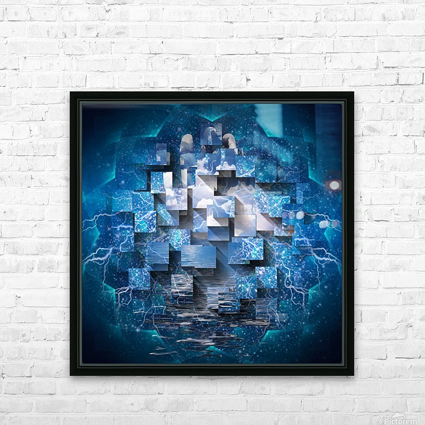 Power Revealed HD Sublimation Metal print with Decorating Float Frame (BOX)