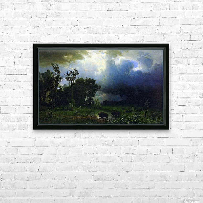 Before the Storm by Bierstadt HD Sublimation Metal print with Decorating Float Frame (BOX)